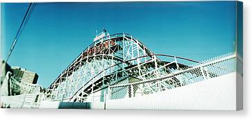 Enjoyment Canvas Print - Low Angle View Of A Rollercoaster by Panoramic Images