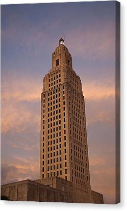 Low Angle View Of A State Capitol Canvas Print by Panoramic Images