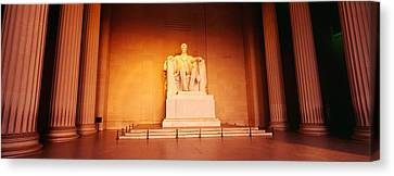 Low Angle View Of A Statue Of Abraham Canvas Print by Panoramic Images