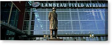 Lambeau Field Canvas Print - Low Angle View Of A Statue by Panoramic Images