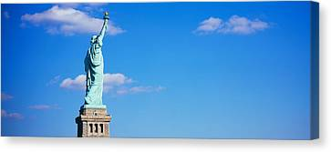 Low Angle View Of A Statue, Statue Canvas Print