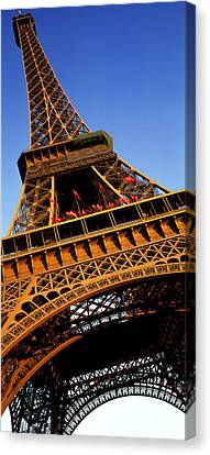 Low Angle View Of A Tower, Eiffel Canvas Print by Panoramic Images