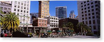 Low Angle View Of Buildings At A Town Canvas Print by Panoramic Images