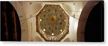 Low Angle View Of Ceiling In A Mosque Canvas Print by Panoramic Images