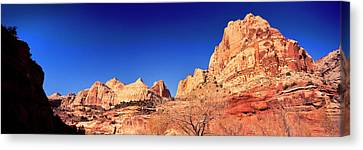 Low Angle View Of Cliff In Capitol Reef Canvas Print by Panoramic Images