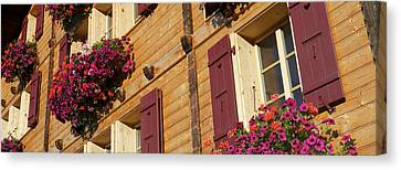 Wengen Canvas Print - Low Angle View Of Guesthouse, Wengen by Panoramic Images