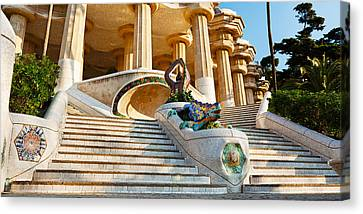 Low Angle View Of Hall Of Columns, Park Canvas Print by Panoramic Images