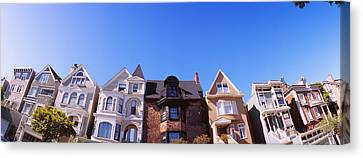 San Francisco Street Canvas Print - Low Angle View Of Houses In A Row by Panoramic Images
