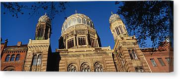 Low Angle View Of Jewish Synagogue Canvas Print