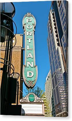 Low Angle View Of Portland Landmark Canvas Print