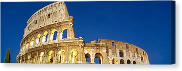 Low Angle View Of Ruins Of An Canvas Print by Panoramic Images