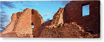 Low Angle View Of Ruins Of Ancestral Canvas Print by Panoramic Images