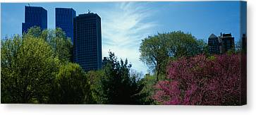 Low Angle View Of Skyscrapers Viewed Canvas Print