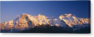 Low Angle View Of Snowcapped Mountains Canvas Print by Panoramic Images