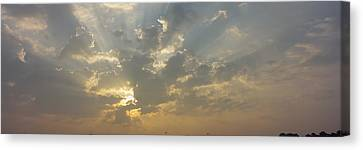 Low Angle View Of Sun Shinning Canvas Print by Panoramic Images