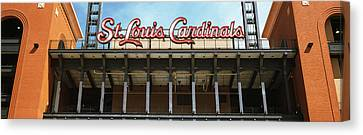 Low Angle View Of The Busch Stadium Canvas Print by Panoramic Images