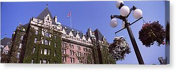 Low Angle View Of The Empress Hotel Canvas Print