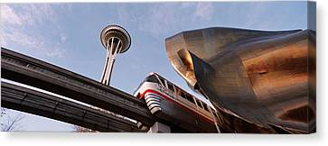 Monorail Canvas Print - Low Angle View Of The Monorail And by Panoramic Images