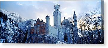 Low Angle View Of The Neuschwanstein Canvas Print by Panoramic Images