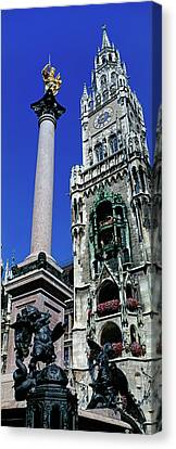Low Angle View Of The New Town Hall Canvas Print by Panoramic Images