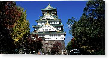 Low Angle View Of The Osaka Castle Canvas Print by Panoramic Images