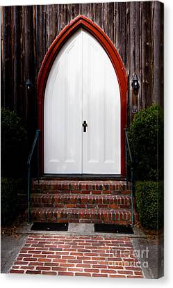 Low Country Wooden Church Door Canvas Print by Thomas Marchessault
