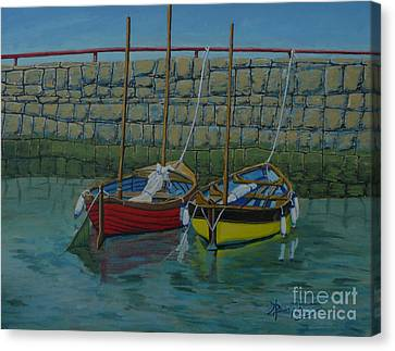 Low Tide Canvas Print by Anthony Dunphy