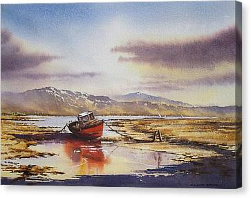 Canvas Print - Low Tide At Bantry by Roland Byrne