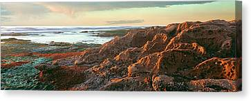Low Tide At Coast During Sunset Canvas Print by Panoramic Images