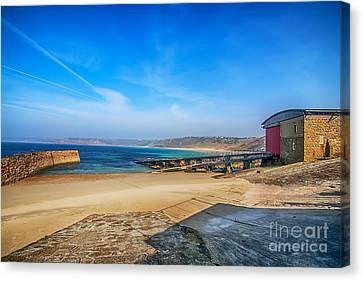 Sennen Cove Canvas Print - Low Tide At Sennen Cove 2 by Chris Thaxter