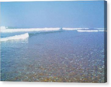 Low Tide Canvas Print by David Klaboe