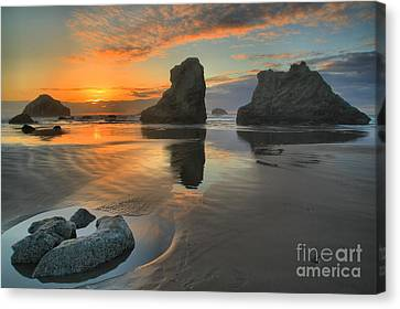 Low Tide Giants Canvas Print by Adam Jewell