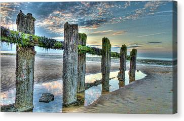 Low Tide Groynes Canvas Print