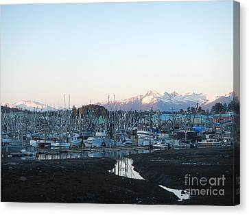 Low Tide In Winter Canvas Print