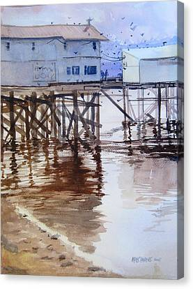 Low Tide Canvas Print by Kris Parins