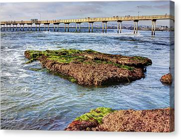 Low Tide Canvas Print by Photographic Art by Russel Ray Photos