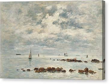 Low Tide Saint Vaast La Hougue Canvas Print