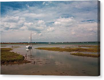 Canvas Print featuring the photograph Low Tide by Shirley Mitchell