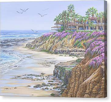 Low Tide Solana Beach Canvas Print