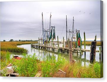 Lowcountry Shrimp Dock Canvas Print by Scott Hansen