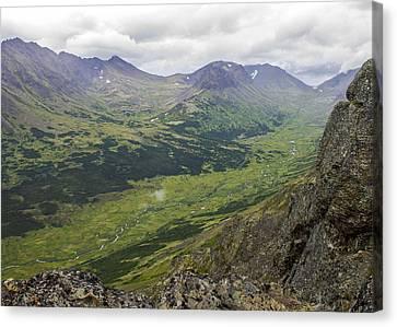 Lowe Peak From Flat Top Canvas Print by Saya Studios