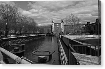 Lowell Ma Architecture Bw Canvas Print