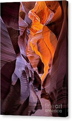 Lower Antelope Glow Canvas Print by Jerry Fornarotto
