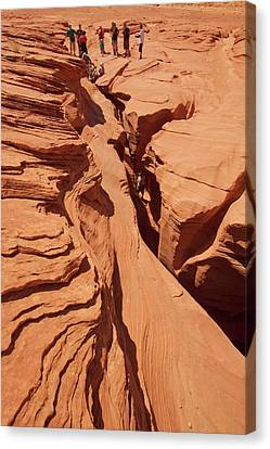 Lower Antelope Slot Canyon Canvas Print by Peter Menzel