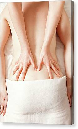 Lower Back Massage Canvas Print by Thomas Fredberg