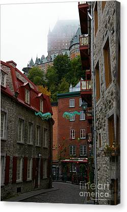 Lower City Quebec Canvas Print by Tannis  Baldwin