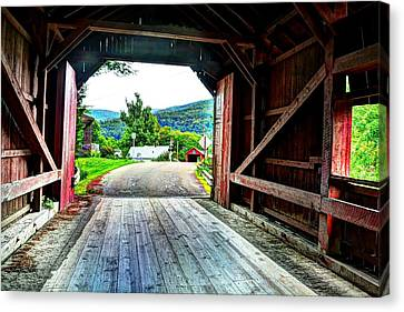 Lower Covered Bridge Canvas Print