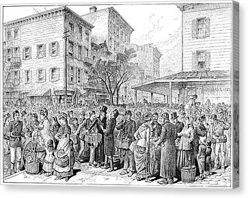 Lower East Side, 1884 Canvas Print