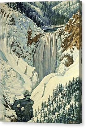 Lower Falls-april Canvas Print by Paul Krapf