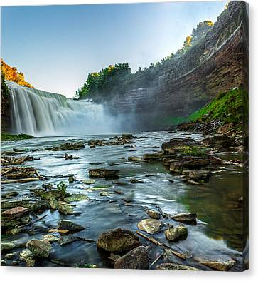 Lower Falls Genesee River Canvas Print by Tim Buisman